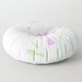 Roseate Jewels No.12u by Kathy Morton Stanion Floor Pillow