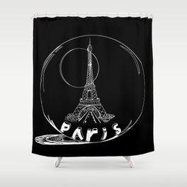 Paris city in a glass ball . Home decor, art prints Shower Curtain