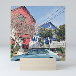 Slanted Houses Mini Art Print