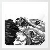 leah flores Art Prints featuring Leah by Jenn Steffey
