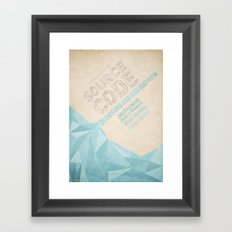 Source Code - minimal poster Framed Art Print