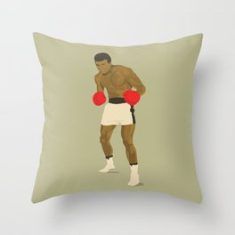 Cool image of a boxer Throw Pillow