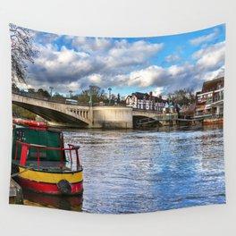 Caversham Bridge in Reading Wall Tapestry