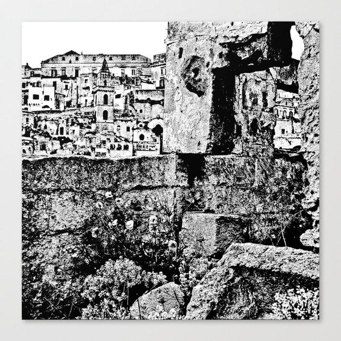 Sassi di Matera Canvas Print