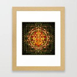 Shri Yantra- Maha Lakshmi Ashtakam- Abundance Framed Art Print