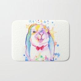 Rainbow Bunny Bath Mat