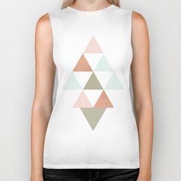 Being Mindful, Geometric Triangles Biker Tank