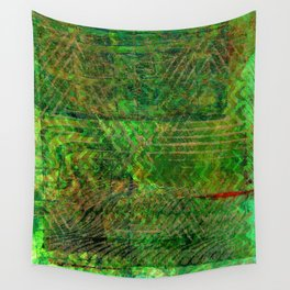 Gold caged green Wall Tapestry