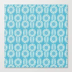 Think Spring: Blue Canvas Print
