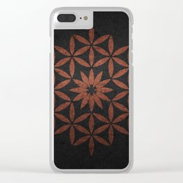 The Flower of Life - Ancient copper Clear iPhone Case