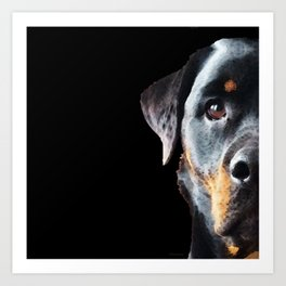 Rottie Love - Rottweiler Art By Sharon Cummings Art Print