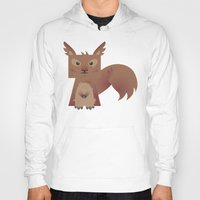 furry Hoodies featuring Furry Squirrel by Yay Paul
