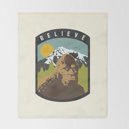 Bigfoot Patch Throw Blanket
