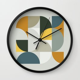 Mid Century Geometric 13 Wall Clock