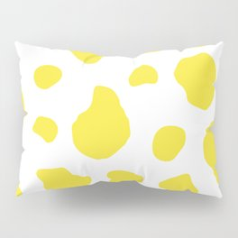 Yellow Cow Print Background Pillow Sham