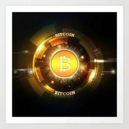 Bitcoin block chain Art Print