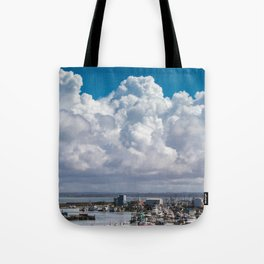 Storm Clouds over Westport, WA Tote Bag