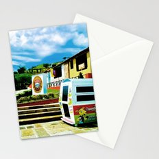 Bright blue sky, bright colors. Stationery Cards