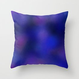 Color gradient and texture 68 blue Throw Pillow