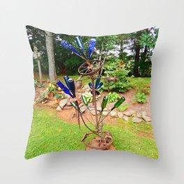 Glass and Steel Garden Art Throw Pillow