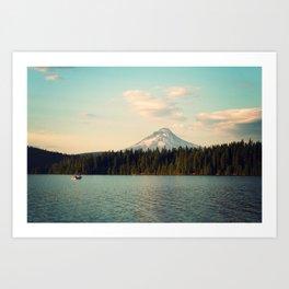 Mt. Hood Mountain and Timothy Lake Art Print