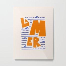 La Mer French Sea Metal Print