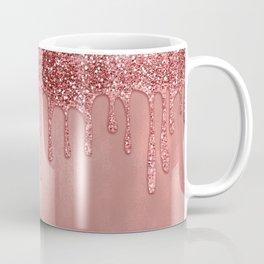 Dripping in Rose Gold Glitter Coffee Mug