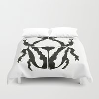 insects Duvet Covers featuring Insects by Kim Cooper Collections