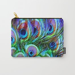 Peacock Feathers - Secret Garden  Carry-All Pouch