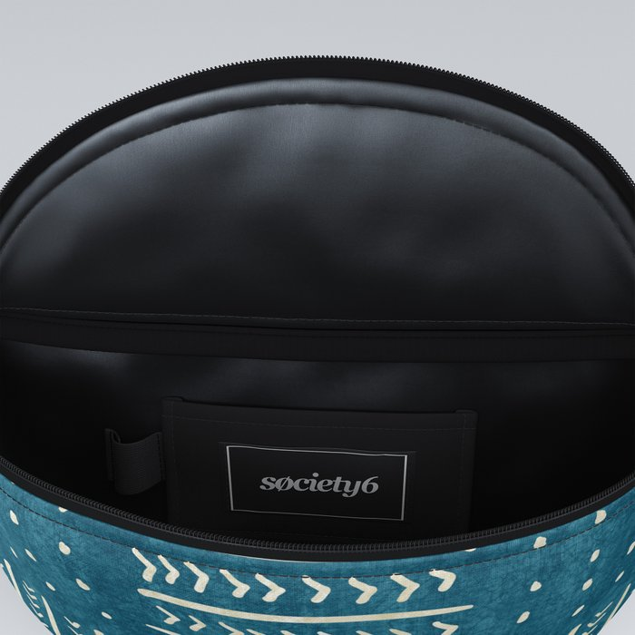 Mud Cloth Patchwork in Teal Fanny Pack