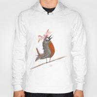 birdy Hoodies featuring Birdy by Tim Cornwall