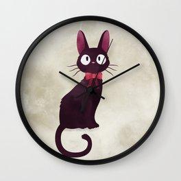 Kiki's delivery service - Jiji illustration - Miyazaki, Studio Ghibli Wall Clock
