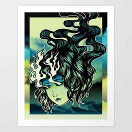 Flame Eyes Color Art Print