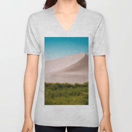 Dune green blue Unisex V-Neck