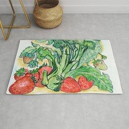 Berries and Broccoli Rug