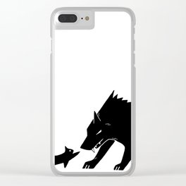 The Wolf and Kitten Clear iPhone Case