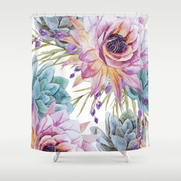 FLOWERS WATERCOLOR 19 Shower Curtain