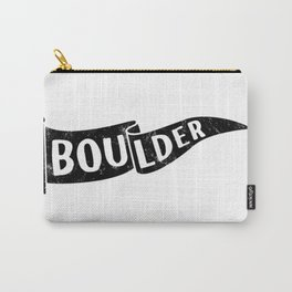Boulder Colorado Pennant Flag // University College Dorm Room Graphic Design Decor Black & White Carry-All Pouch