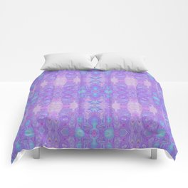 Lavender Dreams Abstract Comforters