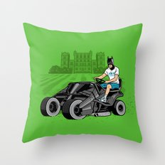 The Bat-mow-bile Throw Pillow