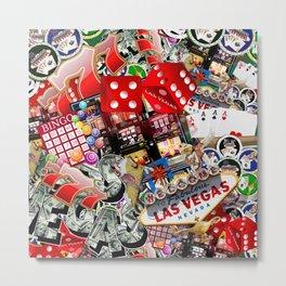 Gamblers Delight - Las Vegas Icons Metal Print