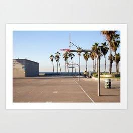 Venice Beach Basketball Series Number 1 Art Print