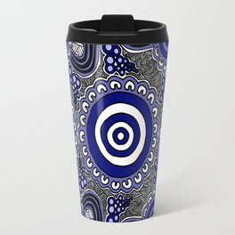 Authentic Aboriginal Artwork - Connections Travel Mug