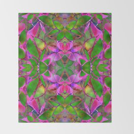 Floral Fractal Art G374 Throw Blanket