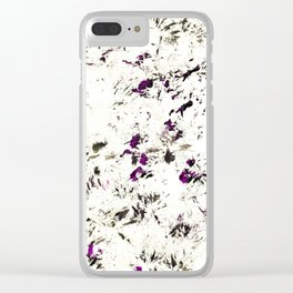 My dog walked all over this... Clear iPhone Case