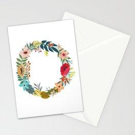 Monogram Letter O Stationery Cards
