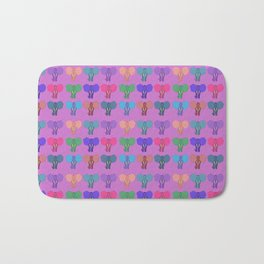 Pachiderms Of The Rainbow Nation Bath Mat