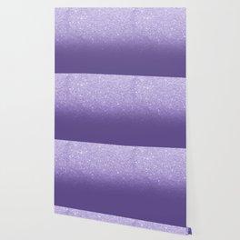 Modern ultra violet faux glitter ombre purple color block Wallpaper