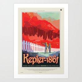 Kepler-186 : NASA Retro Solar System Travel Posters Art Print
