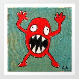 Tomato Monster Art Print